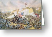 The Cape Greeting Cards - Capture of Fort Fisher 15th January 1865 Greeting Card by American School