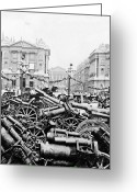 Canons Greeting Cards - Captured German Guns at Palace de la Concorde in Paris - France Greeting Card by International  Images