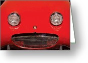 Austin Healey Photo Greeting Cards - Car - Say Cheese Greeting Card by Mike Savad