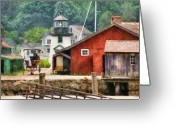 Travel Agent Greeting Cards - Car - Wagon - Mystic CT - Life at Mystic Greeting Card by Mike Savad