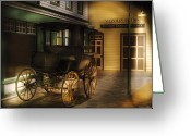 Carriage Greeting Cards - Car - Wagon - The carriage Greeting Card by Mike Savad
