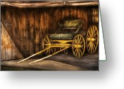 Buggy Greeting Cards - Car - Wagon - The old wagon Greeting Card by Mike Savad
