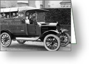 Relief Work Photo Greeting Cards - Car Aid Greeting Card by Topical Press Agency
