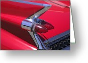 Light Reliefs Greeting Cards - Car detail Greeting Card by Garry Gay