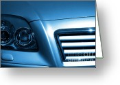 Sell Greeting Cards - Car Face Greeting Card by Carlos Caetano