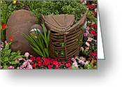 Rust Greeting Cards - Car in the garden Greeting Card by Garry Gay