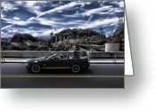 Bridge Digital Art Greeting Cards - Car Greeting Card by Marco Moscadelli