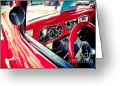 High Wheel Greeting Cards - Car no.4 Greeting Card by Niels Nielsen