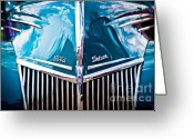 Ford Engine Greeting Cards - Car no.8 Greeting Card by Niels Nielsen