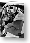 Glove Greeting Cards - CAR RADIO, c1940 Greeting Card by Granger