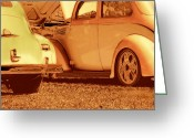 Car Photographs Greeting Cards - Car Show Greeting Card by Ann Powell