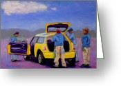 Mini Pastels Greeting Cards - Car Wash Greeting Card by Marion Derrett