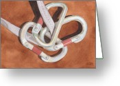 Ken Greeting Cards - Carabiners Greeting Card by Ken Powers