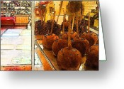 Caramel Greeting Cards - Caramel Apples Greeting Card by Rashelle Brown
