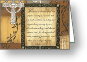 Candles Greeting Cards - Caramel Scripture Greeting Card by Debbie DeWitt