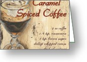Sugar Greeting Cards - Caramel Spiced Coffee Greeting Card by Debbie DeWitt