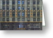 Midwest Greeting Cards - Carbide and Carbon Building Greeting Card by Adam Romanowicz