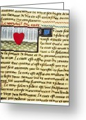 The Language Greeting Cards - Cardiac Treatise, 15th Century Greeting Card by