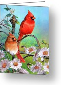 Feminine Greeting Cards - Cardinal Day 3 Greeting Card by JQ Licensing