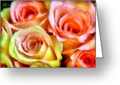 Caress Greeting Cards - Caressing Greeting Card by Angelina Vick