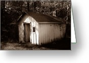 Shed Digital Art Greeting Cards - Caretakers Shed Greeting Card by Elizabeth Barone