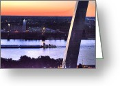 Mississippi River Scene Greeting Cards - Cargill Greeting Card by William Fields