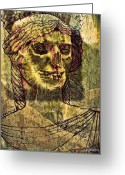 Greek Sculpture Digital Art Greeting Cards - Cariatides Muertas II Greeting Card by Paulo Zerbato