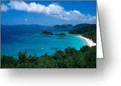Beach Framed Prints Greeting Cards - Caribbean Blue Greeting Card by Kathy Yates