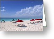 Tropical Island Photo Greeting Cards - Caribbean Blue Greeting Card by Stephen Anderson