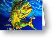 Caribbean Sea Tapestries - Textiles Greeting Cards - Caribbean Bull Greeting Card by Daniel Jean-Baptiste