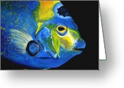 Saltwater Fish Greeting Cards - Caribbean Queen Greeting Card by J Vincent Scarpace