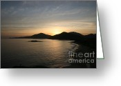 Nature Landscape Pyrography Greeting Cards - Caribbean Sunrise Greeting Card by Torsten Dietrich