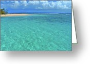 Dominican Greeting Cards - Caribbean Water Greeting Card by Scott Mahon