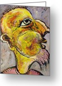 Wise Man Greeting Cards - Caricature of a Wise Man Greeting Card by Ion vincent DAnu