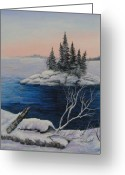 Caron Greeting Cards - Carin Island Greeting Card by Paul Jefferson