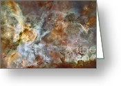 Carina Nebula Greeting Cards - Carina Nebula Greeting Card by Nasa