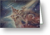 Heavens Pastels Greeting Cards - Carina Nebula Greeting Card by Thomas Maynard