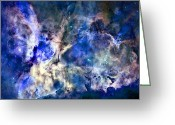 Outer Space Greeting Cards - Carinae Nebula Greeting Card by Michael Tompsett