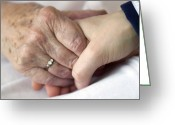 Old Person Greeting Cards - Caring For The Elderly, Conceptual Image Greeting Card by Crown Copyrighthealth & Safety Laboratory