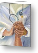 Nurse Greeting Cards - Caring Greeting Card by Marlyn Boyd