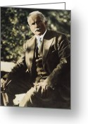 20th Century Photo Greeting Cards - Carl G. Jung  Greeting Card by Granger