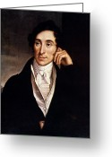 Cravat Greeting Cards - Carl Maria Von Weber Greeting Card by Granger