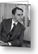 1980s Portraits Greeting Cards - Carl Sagan, Us Astronomer Greeting Card by Ria Novosti