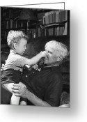 Grandson Greeting Cards - Carl Sandburg (1878-1967) Greeting Card by Granger