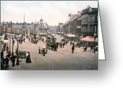 Carlisle Greeting Cards - Carlisle - England - Market Place Greeting Card by International  Images
