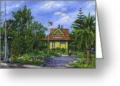 Reinhardt Greeting Cards - Carlsbad Station Greeting Card by Lisa Reinhardt