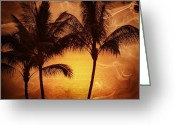 Tans Greeting Cards - Carmel sunset Greeting Card by Athala Carole Bruckner