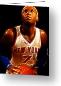 Fame Greeting Cards - Carmelo Anthony - New York Nicks - Basketball - Mello Greeting Card by Lee Dos Santos