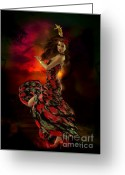 Bizet Greeting Cards - Carmen Greeting Card by Shanina Conway