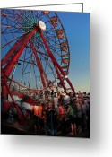 Carnie Greeting Cards - Carnival - An Amusing Ride  Greeting Card by Mike Savad